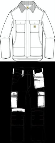 Illustration catégorie vêtements pro